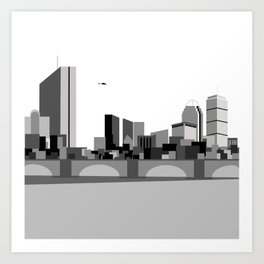 CHARLES RIVERVIEW Art Print