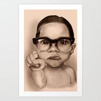 Cute Boy Art Print