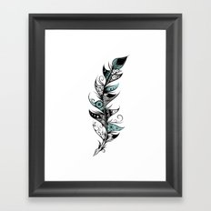 Poetic Feather Framed Art Print