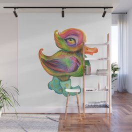Snozzleberry Duck in autumn - put on your rain clogs Wall Mural