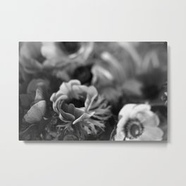 black+white anemones #1 Metal Print