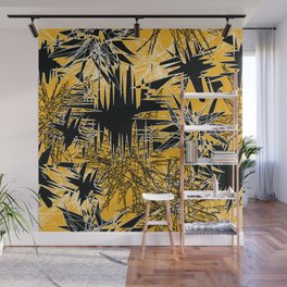 Yellow Chaos Wall Mural