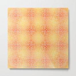 Brian's Bubbliscious Pattern (Fire Pit) Metal Print