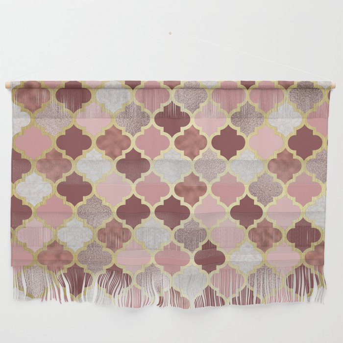 Warm Rose Gold Moroccan Wall Hanging By Peggieprints Society6
