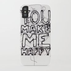 You Make Me Happy Slim Case iPhone X
