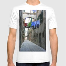 Venice Alley MEDIUM White Mens Fitted Tee