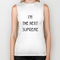 supreme Biker Tanks featuring Supreme by Lyre Aloise