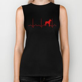 Boxer Dog Heartbeat Biker Tank