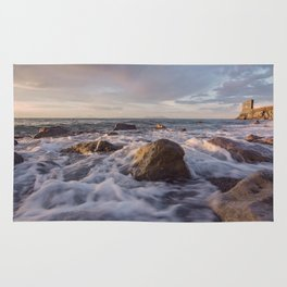 Seascape at sunset Rug