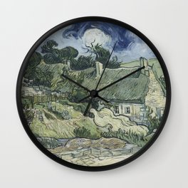Thatched Cottages at Cordeville Wall Clock