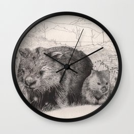 Path to wombat pool Wall Clock