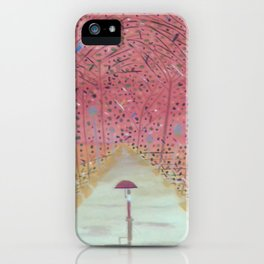A Walk in the Autum Park iPhone Case