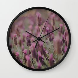 Lavender Stories Wall Clock