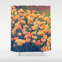 tulips Shower Curtains featuring Tulips  by Juliana RW