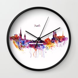 Zurich Skyline Wall Clock