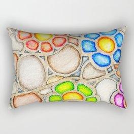 Floral Weimaraner Rectangular Pillow