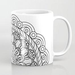 black&white mandala with spiral Coffee Mug