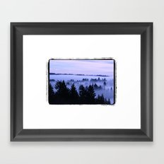 BremertonMorningFog Framed Art Print