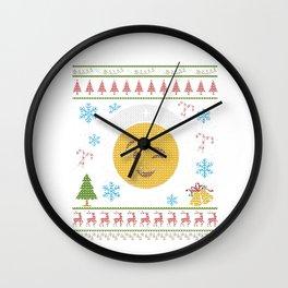 Nurse RN LPN CNA Emoticon Christmas Ugly Shirt Wall Clock