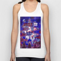 patriotic Tank Tops featuring AMERICAN PATRIOTIC by hippiedaisysart