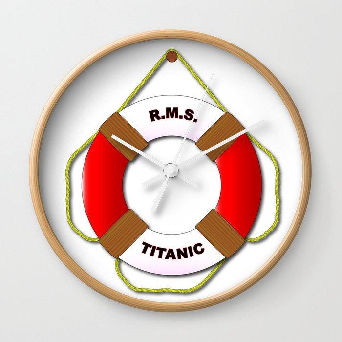 RMS Lifebelt Wall Clock