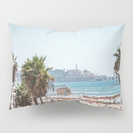 View of Old Jaffa from Gordon Beach, Tel Aviv, Israel Pillow Sham