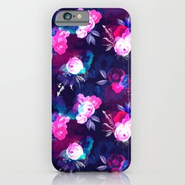 Dark Bloom Pattern by Heidi Appel iPhone Case