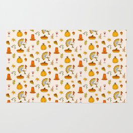 Happy thanksgiving day pattern Rug