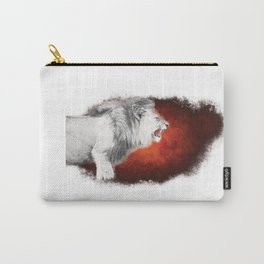 Snarling White Lion Carry-All Pouch