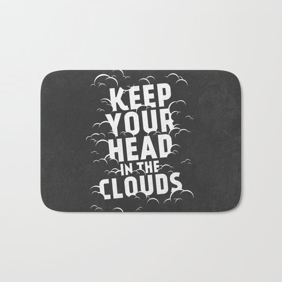 Keep Your Head in the Clouds Bath Mat
