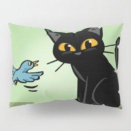 Talking with a bird Pillow Sham