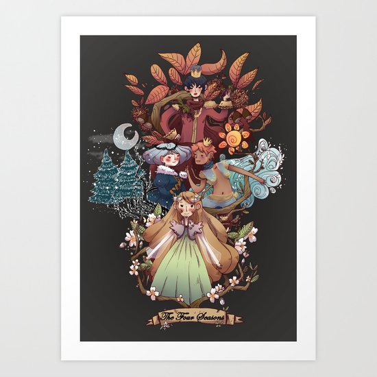 The Four Season Art Print