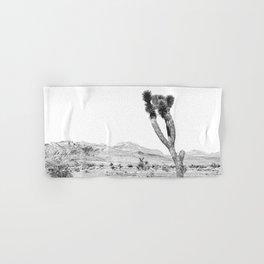 Vintage Desert Scape B&W // Cactus Nature Summer Sun Landscape Black and White Photography Hand & Bath Towel
