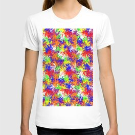 Vibrant Trippy Jiggle Pattern T-shirt