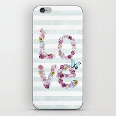 SPRING FLORAL LOVE iPhone & iPod Skin
