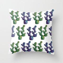 Beautiful watercolor cactus Throw Pillow