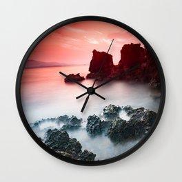 Sunset at sea VII Wall Clock