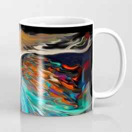 Mother Nature in Autumn Red Coffee Mug