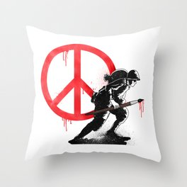 Art is a weapon! Throw Pillow