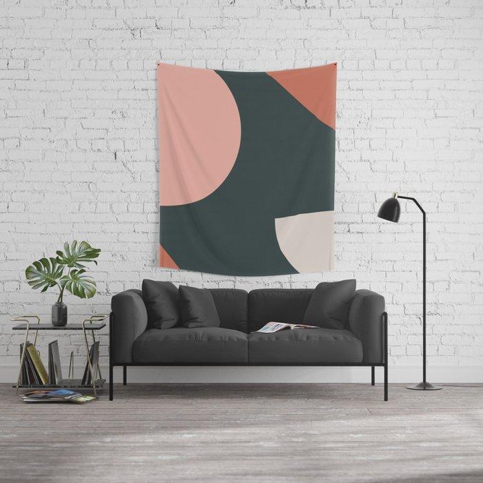 Orbit 01 Modern Geometric Wall Tapestry