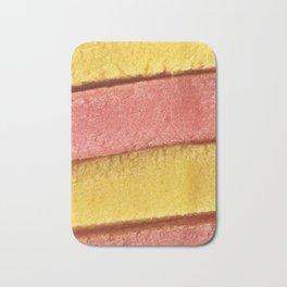 Yellow Peach Colored Bubble Gum Texture Bath Mat