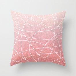 Scribble Linen - Blush Pink Throw Pillow