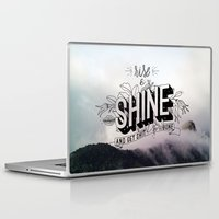 get shit done Laptop & iPad Skins featuring Rise and Shine and get shit done by Urban Emotions