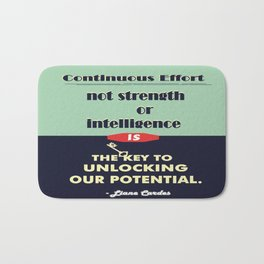 Intelligence is the key to unlocking our potential Inspirational Quote Bath Mat