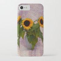 sunflowers iPhone & iPod Cases featuring Sunflowers  by Guna Andersone & Mario Raats - G&M Studi