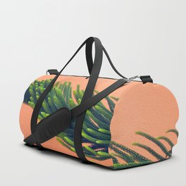 Complementary Colors Green Salmon Pink Against Background Duffle Bag