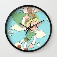 hyrule Wall Clocks featuring HYRULE FLYGHT CLUB  by Cake Store
