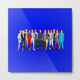 Blue Heroes Group Fashion Outfits Metal Print