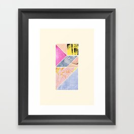Collaged Tangram Alphabet - I Framed Art Print