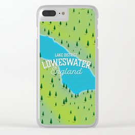 Loweswater Lake District England travel map Clear iPhone Case
